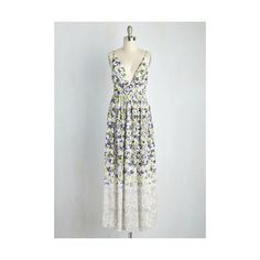 Long Sleeveless A-line Divine Arts Degree Dress ($90) found on Polyvore featuring women's fashion, dresses, apparel, fashion dress, multi, floral maxi dress, flower print dress, chiffon dress, floral dress and floral print maxi dress