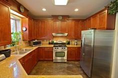 Concrete floors in a kitchen