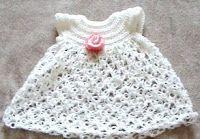 Crochet Geek: ganchillo vestido de bebé - nudo de Salomón