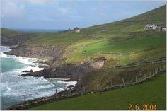 Irish coastline.