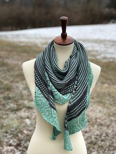 Bring It On Home by Casey Day-Crosier | malabrigo Sock in Plomo and Water Green