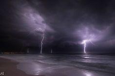 "Huge ""rain"" of lightning, Italy."