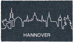 Kokosfußmatte - Fußmatte Skyline Hannover- 74x44 cm