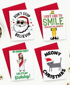 This Christmas Hand Made Greeting Card - Set of Four is perfect! #zulilyfinds