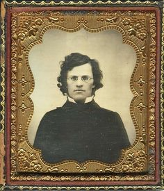 """No, this is not Robert Maplethorpe in 1970s New York. It is a romatic young man in 1859. The daguerreotype is dedicated  """" Present from dear George"""".  I like """"dear"""" George. (This is the last post on this board.)"""