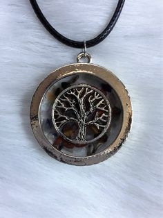 Tree Of Life Healing Natural Mixed Gemstone Pendant Necklace - Positive Energy and Balance - Reiki Chakra by TheIndigoOutpost on Etsy