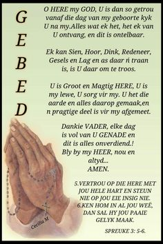 Vertrou op die Here met jou hele hart. Prayer Quotes, Bible Quotes, Afrikaanse Quotes, Religious Quotes, Wees, Prayers, Blessings, Christianity, Friendship
