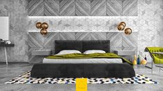 42 Gorgeous Grey Bedrooms - http://www.assessmyhome.com.au/42-gorgeous-grey-bedrooms/      Like Architecture & Interior Design? Follow Us…     The colour of the moment, grey is everything you want it to be in almost any living space. Compatible with living rooms, kitchens, and bathrooms, it's only natural that its powers would work beautifully in a bedroom. These forty g... http://cdn.home-designing.com/wp-content/uploads/2016/10/grey-and-green-bedroom-texturing