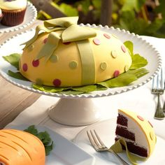 Perfect Endings Easter Egg Cake... not a recipe, this is for purchase at Williams Sonoma but its also giving me ideas to make one!