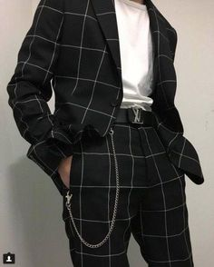 Love a good windowpane suit clothing fashion laurent men s menswear saint spring style suiting suits trends ysl yves Fashion 60s, Fashion Outfits, Classic Fashion, Fashion Styles, Fashion Black, Fashion Ideas, Guy Fashion, Style Fashion, Feminine Fashion