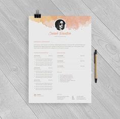 Resume Format Microsoft Cv Template  Creative Resume Template  Modern Cv  Cover Letter  .