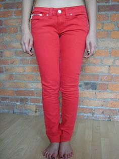 Kuyichi Neneh' Organic cotton red jeans.  £45.00 RRP 125. International shipping available