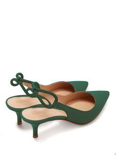 Gianvito Rossi Slingback leather heels Zapatillas De Tacón 33ca3c67ecb24