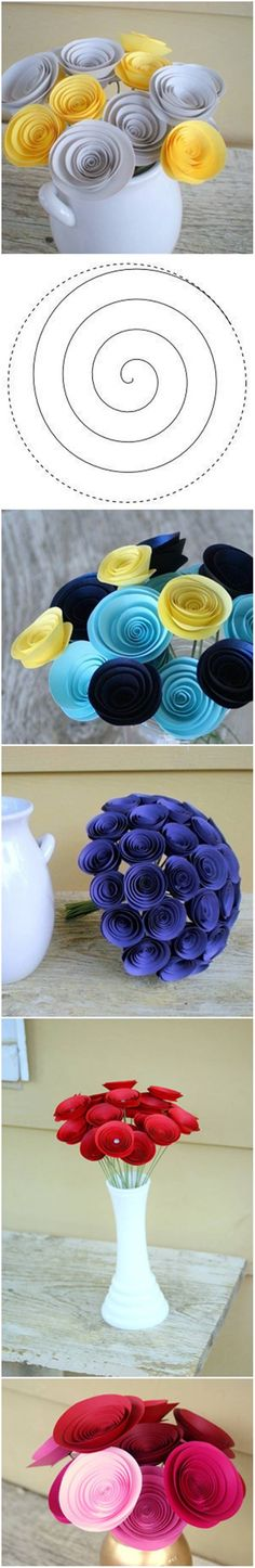 How to DIY Easy Swirly Paper Flower #craft #decor #paper #flower