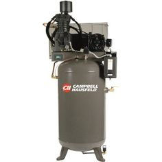 Pump: Cast iron, splash-lubricated, Amps: 20.3-18.2/9.1, Tank Type: Vertical, Duty Cycle: 80/20, Volts: 208-230/460, Dimensions L x W x H (in.): 45 x 35 x 83, Air Outlet Size (in.): 3/4, Air Tank Size (gal.): 80, Drive: Belt, HP: 7.5, Drain System: Manual, After-Cooler Included: No, CFM at 90 PSI: 25, Stage: 2, Portable or Stationary: Stationary, Pump Life (hrs.): 17,500, CFM at 175 PSI: 24.3, Max. PSI: 175
