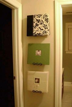 Scrapbook displays  Love this idea  Going to put some in the kids room.   Most will be in my sunroom/office/playroom   And then the family & holidays ones in the living room
