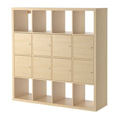 "KALLAX Shelf unit with 8 inserts - birch effect, 57 7/8x57 7/8 "" - IKEA - $259.00"