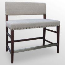 Marcello Counter Bench With Antique Brass Nailheads From Ballard