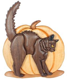 Halloween Black Cat Intarsia by Kathy Wise