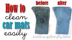 How to clean car mats in the washer machine!!