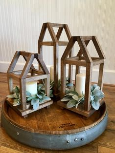 lanterns Wood lantern centerpiece with framed rooftop, farmhouse style w.- lanterns Wood lantern centerpiece with framed rooftop, farmhouse style wood lantern, wood lantern wedding centerpiece, wood candle lantern Wooden Lanterns, Lanterns Decor, Candle Lanterns, Candles, Decorating With Lanterns, Decorative Lanterns, Decorating With Wood, Fall Lanterns, Lantern Centerpiece Wedding