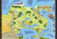 The Most Incredible Fantasy Maps You've Ever Seen World of Greyhawk from Dungeons and Dragons Fantasy Map Maker, Fantasy World Map, Fantasy Fiction, Fantasy Rpg, Pathfinder Maps, Imaginary Maps, Rpg World, Desktop, Fictional World