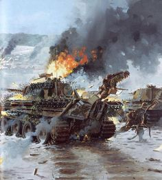 burning panzers, Battle of the Bulge