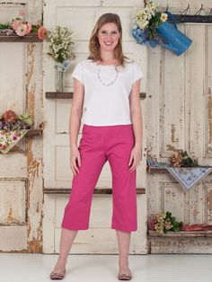 Pansy Ladies Pant | April's Attic Sale, Ladies Attic :Beautiful Designs by April Cornell. these say straight leg but they look like a slight flare. cotton poplin