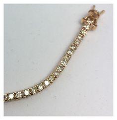 """rose gold 18 kt. bracelet. with diamonds"" by galumabazar on Polyvore"