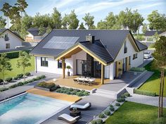 Find home projects from professionals for ideas & inspiration. Projekt domu Simon by Pracownia Projektowa ARCHIPELAG Modern House Plans, House Floor Plans, Design Exterior, Solar House, Design Studio, Design Case, Home Fashion, My Dream Home, Future House