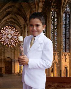 Traje para niño Primera Comunión First Holy Communion Cake, Cute Kids Fashion, Family Photos, Party Ideas, Faith, Clothes, Kids Fashion Boy, Rosaries, First Holy Communion