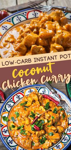 Eat healthier with this Low-Carb Instant Pot Coconut Chicken Curry! This easy recipe has all the delicious taste and aroma of the curry you love but tastes great even without the rice. Make this low carb chicken curry with coconut milk in just 30 minutes! Fun Easy Recipes, Easy Meals, Light Recipes, Kari Ayam, Instant Pot Dinner Recipes, Chicken Instant Pot Recipe, Instant Pot Meals, Le Diner, Pressure Cooker Recipes