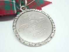Silver School Medal Scottish French Antique by DartSilverLtd, £195.00
