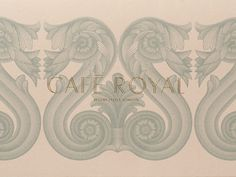 Café Royal redesigned by John Rushworth, Pentagram. The identity uses a set of illustrated architectural details, inspired by Regent Street and the hotel's historical interiors. Logo Design Love, Id Design, Royal Design, Graphic Design Branding, Logo Design Inspiration, Graphic Design Illustration, Visual Identity, Brand Identity, Art Direction