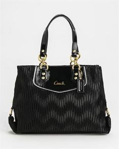 Brand New Coach Pleated Shoulder Bag