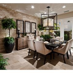 Dining Room by Design Line Interiors, San Diego.