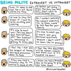Being polite to introverts and extroverts