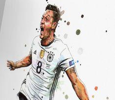"German Footballer Art 43/""x24/"" Poster 05 Mesut Ozil"