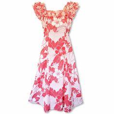 Haven Coral Leilani Hawaiian Muumuu Dress  #hawaiian #madeinhawaii