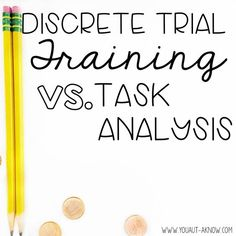 Dtt Vs Task Analysis  Special Education Teaching Techniques And