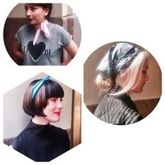 Staff at TENOVERSIX (Dallas) wearing the Vacation Days x TENOVERSIX Paisley Silk Bandana. Available at vacationdays.us #bandana #silk #pink #black #blue #headscarf #neckerchief #scarf #accessories #womenswear