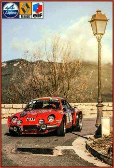 Alpine Renault, Renault Sport, Classic Sports Cars, Classic Cars, Vintage Racing, Vintage Cars, Sport Cars, Race Cars, Rallye Automobile