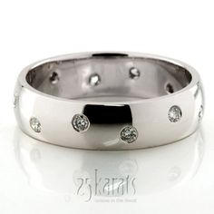 Bestseller Flush-set Dome Wedding Ring.  25karats.com