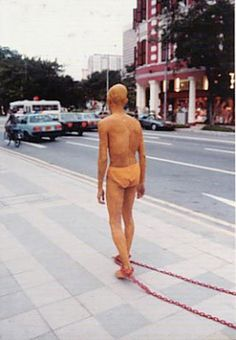 "Lee Wen (Singapore), ""Journey of a Yellow Man No.3: DESIRE"", Singapore, 1993."