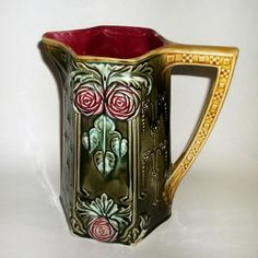 Frie Onnaing French Majolica Pitcher Jug 781