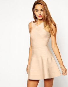 ASOS | ASOS SCULPT Premium Bandage Skater Dress at ASOS