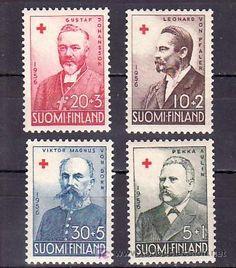 FINLANDIA  448/51 SIN CHARNELA, CRUZ ROJA,  (Sellos - Temáticas - Cruz Roja)