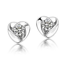 Silver Zircon Earrings With Silver Austria Crystals. Only at www.pandadeals.co.uk