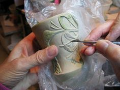 Joann Axford techniques tips process for carving designs and textures pottery ceramics clay