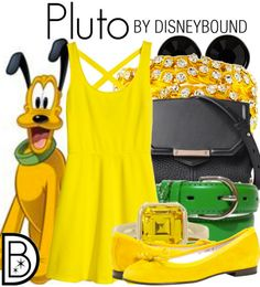 This doggone adorable outfit is inspired by Mickey's dog Pluto   Disney Fashion   DisneyFashion Outfits   Disney Outfits   Disney Outfits Ideas   Disneybound Outfits  